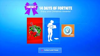 FORTNITE NEW FREE CHRISTMAS REWARDS! 14 DAYS OF FORTNITE REWARDS UNLOCKED! FORTNITE CHRISTMAS UPDATE