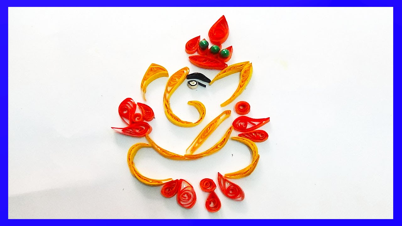 How to make beautiful Sri Ganesh Design Paper Art Quilling ...