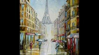 Уроки масляной живописи. Рисуем Париж.