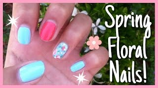 Easy Spring Floral Nails! | Nails
