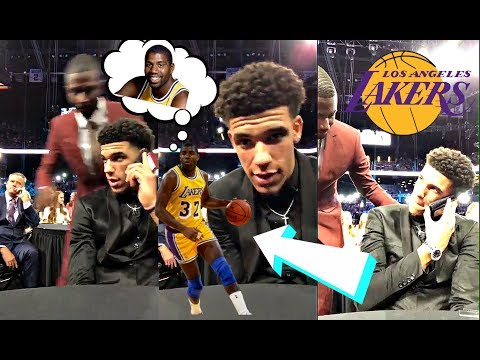 Lonzo Ball REACTS To Phone Call From Magic Johnson Before Getting Drafted By The Los Angeles Lakers