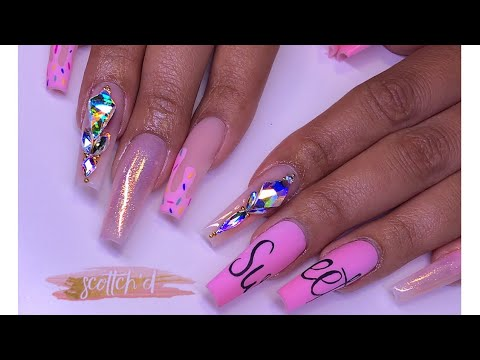 Sweet Ice Cream Drip Nail Art  Tutorial 🍬💗 thumbnail
