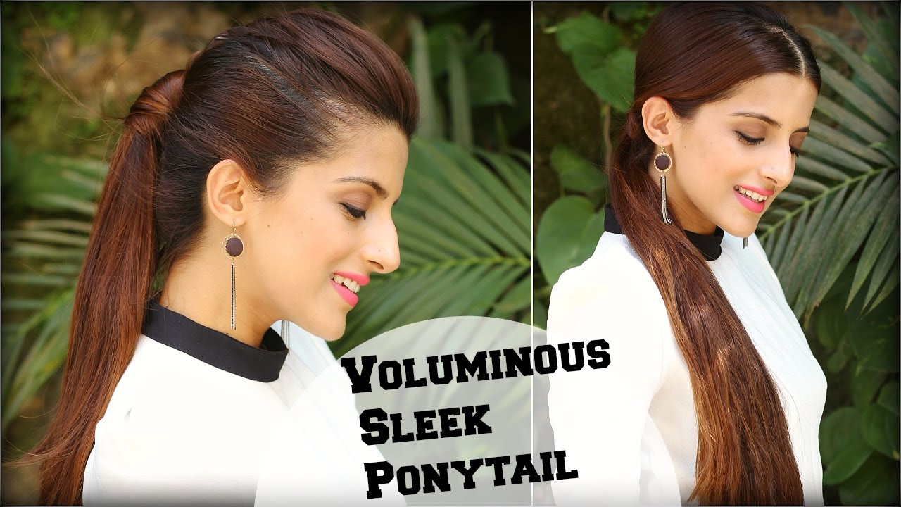 2 Easy High Low Ponytail With Clip In Extensions For Length