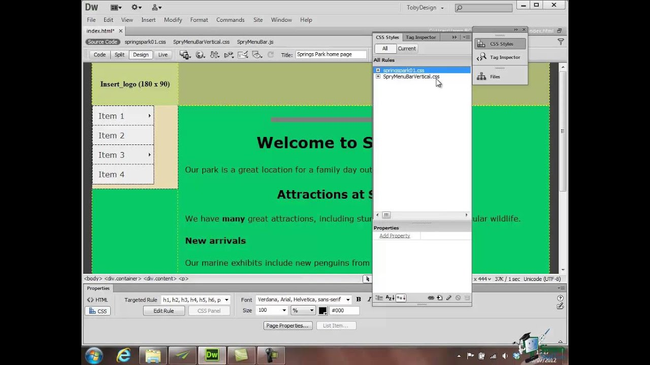 Adobe Dreamweaver Cs6 Tutorials Pdf