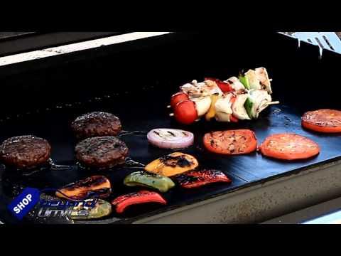 TOPSEAS Estera de Barbacoa,8 Piezas Alfombrilla Reutilizable de Barbacoa Horno,Gas Carb/ón,Parrilla y Barbacoa Apto a Carne,Pescado y Verduras 40x33cm con 2 Pinceles