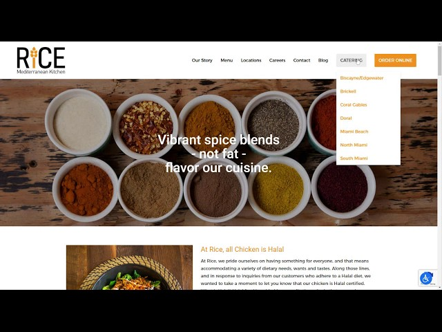 Rice Kitchen WordPress Web Design