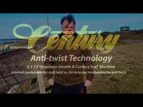 Century Rods Anti-twist Technology Fishing Rods Reduces Torque & Catch Bigger Fish