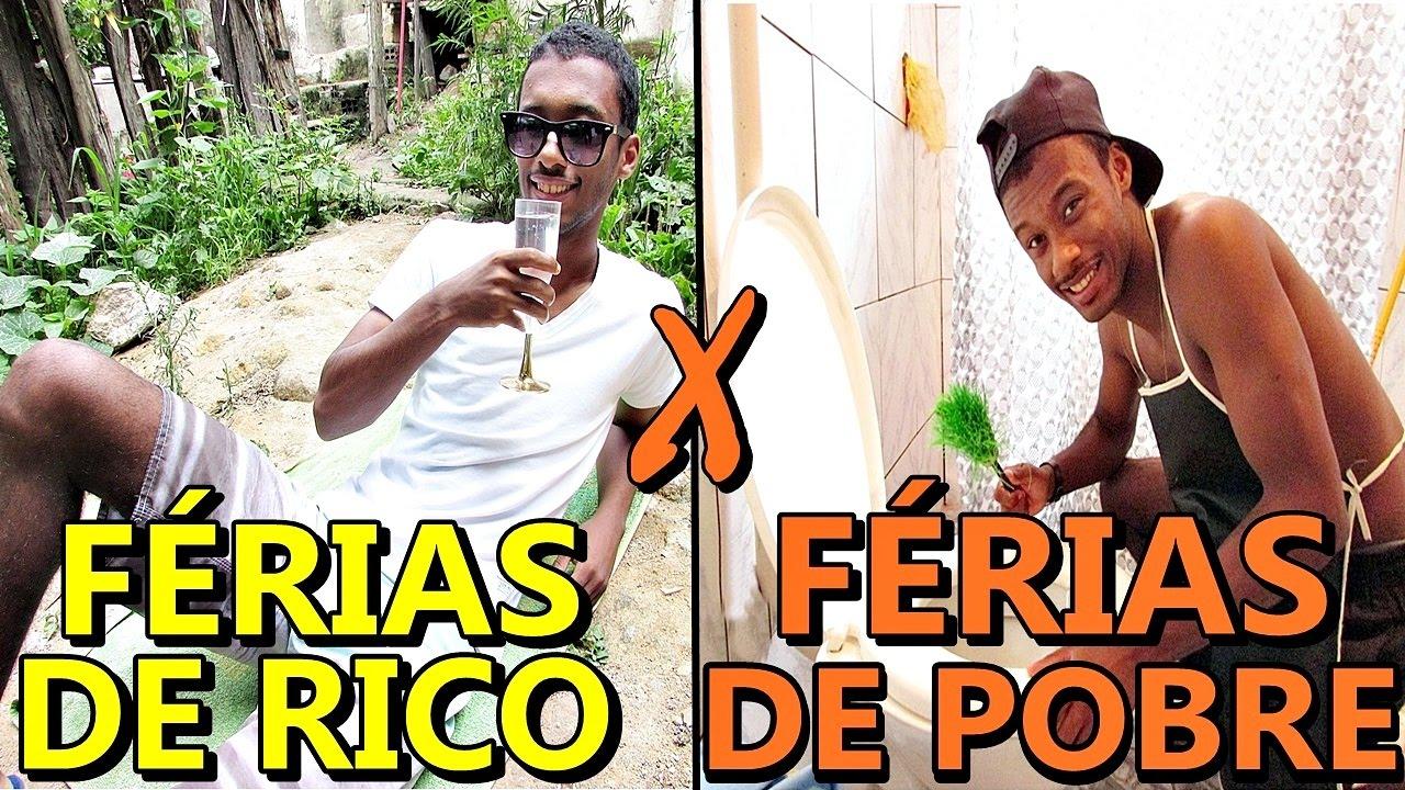 FÉRIAS DE FILHOS DE RICO X FÉRIAS DE FILHOS DE POBRE - YouTube