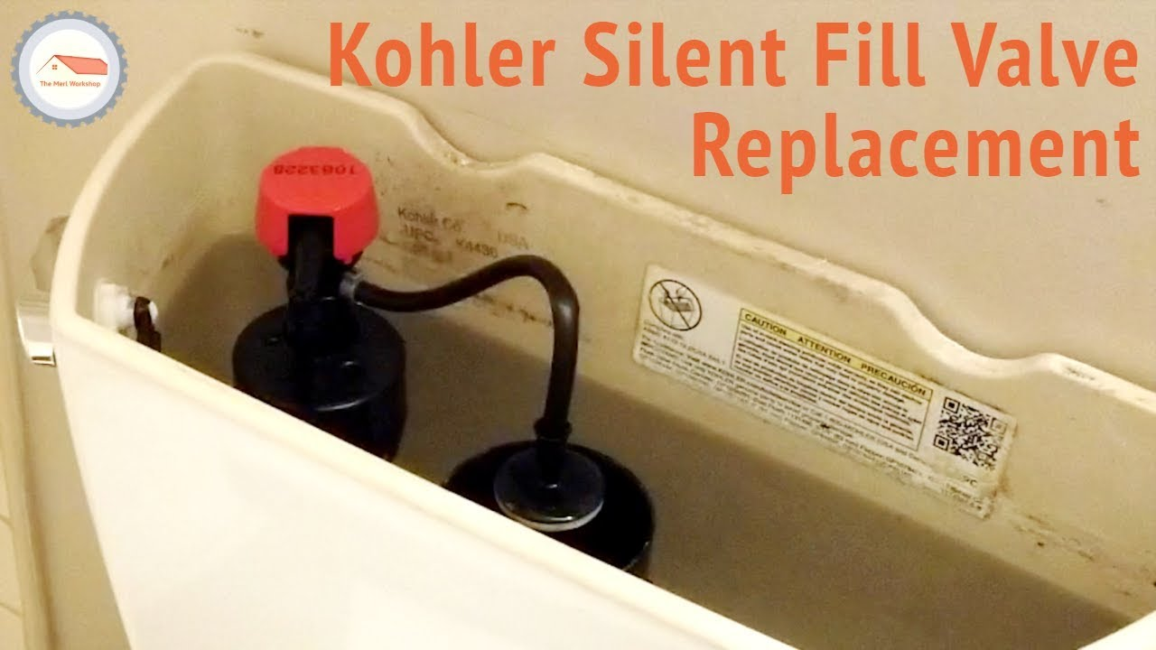 How To Fix A Running Toilet Kohler Silent Fill Valve Replacement You