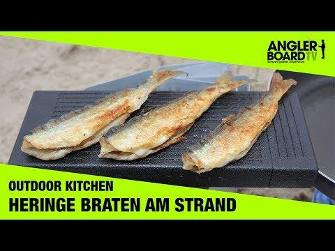 Heringe braten am Strand | Outdoor Kitchen | Anglerboard TV