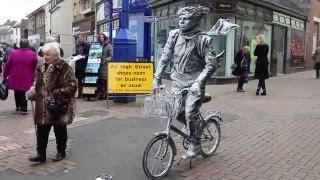 Estevan Mortensen - Living Statue - Busking - Abergavenny - South Wales