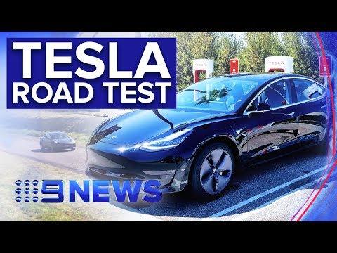 Tesla 3 Finally Arrives In Australian Car Showrooms | Nine News Australia
