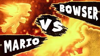 Mario VS Bowser [Bowser's Castle Part 2] - Super Stick Bros