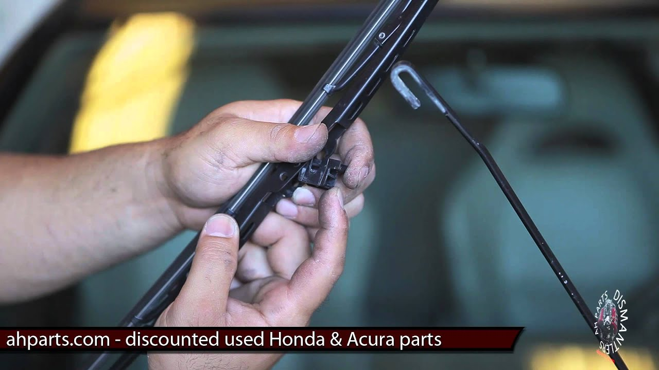 windshield wiper blades replacement how to replace install fix rh youtube com Acura TL Owner's Manual Acura TL Rims