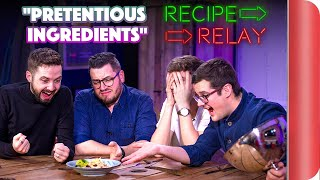 PRETENTIOUS INGREDIENTS Recipe Relay Challenge | Pass it on S2 E5