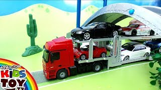 Cartoons about cars. Accident on the road. Video for children. Fire and Police a machine