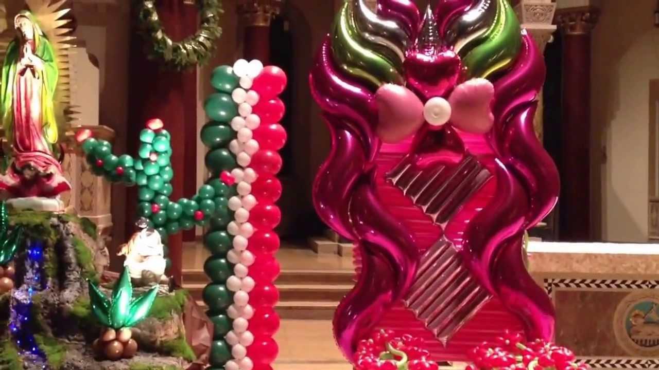 Decoracion Altar Virgen De Guadalupe ~ Decoraci?n con globos de la virgen de Guadalupe  YouTube