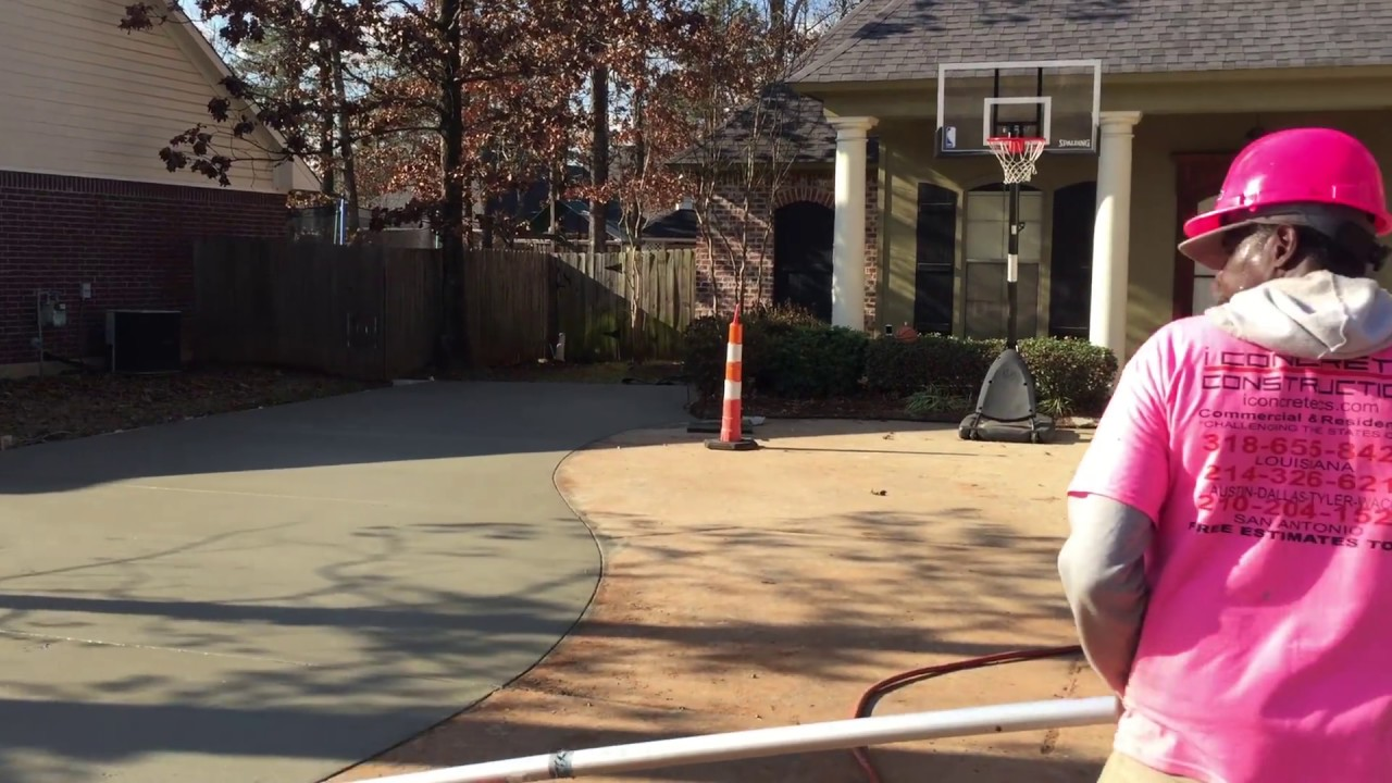 Best How To Broom Finish Concrete Driveway Video
