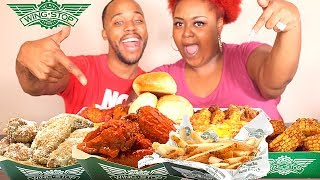 WING STOP MUKBANG | OUR FIRST TIME + Protest after Birmingham Alabama Mall Shooting STORYTIME