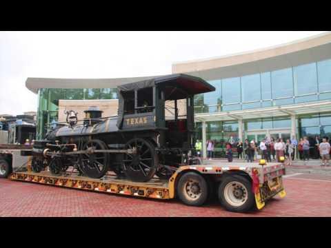The Texas Locomotive Arrives at Atlanta History Center
