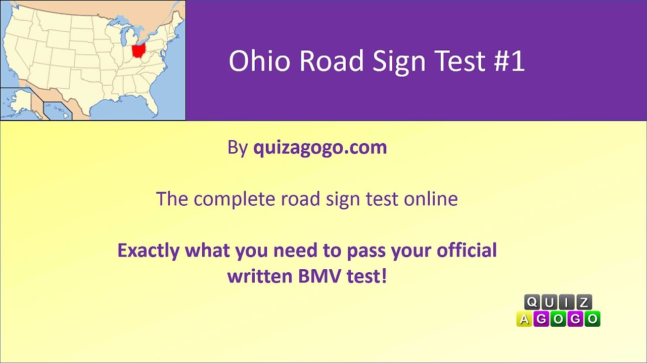 Ohio BMV Road Signs Practice Test 2017 - #1 - YouTube