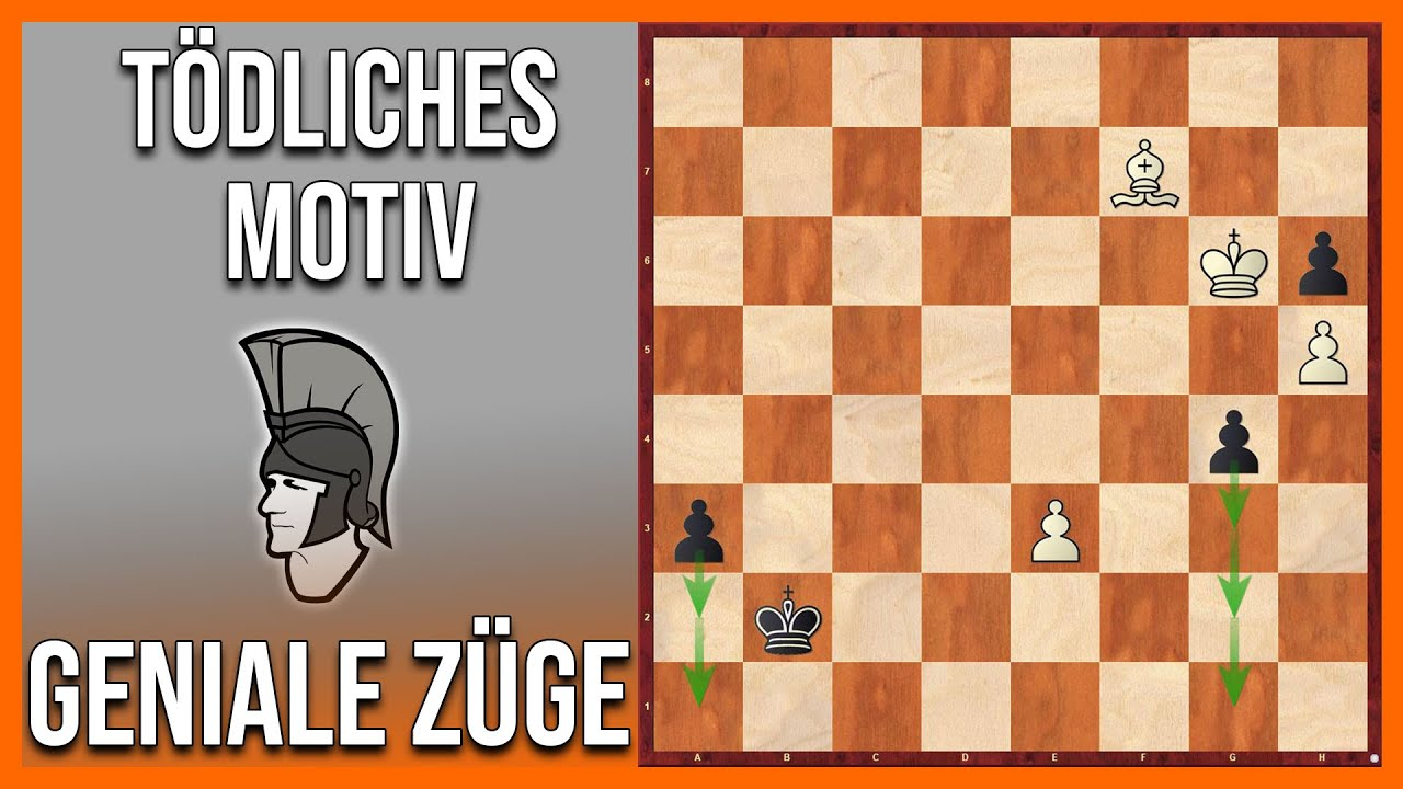 Geniale Schachzüge 12 || Ein tödliches Motiv in Endspielen mit ungleichfarbigen Läufern