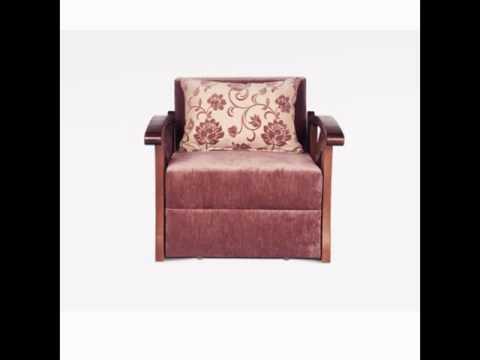 Видеозапись Кресло кровать из дерева