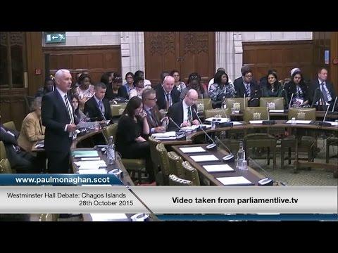 Dr Paul Monaghan MP - Westminster Hall Debate: Chagos Islands