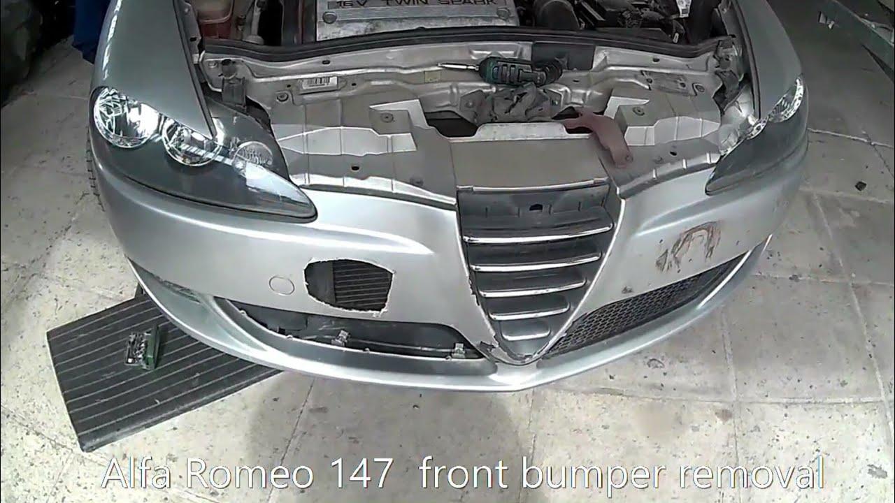 Verbazingwekkend Alfa Romeo 147 front bumper removal - YouTube DJ-97