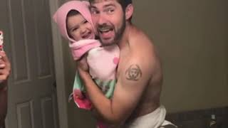 Girls like you maroon 5. Dad and daughter singing girls like you. Cute!!!!