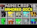 Minecraft ARMORED DOGS MOD! | TAME 100+ NEW ARMORED DOGS, WOLVES, AND MORE! | Modded Mini-Game