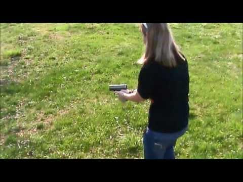 GIRL VS. 45 CALIBER PISTOL ;) !!!