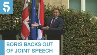 Boris Johnson cancels press conference, to anger from Luxembourg counterpart | 5 News