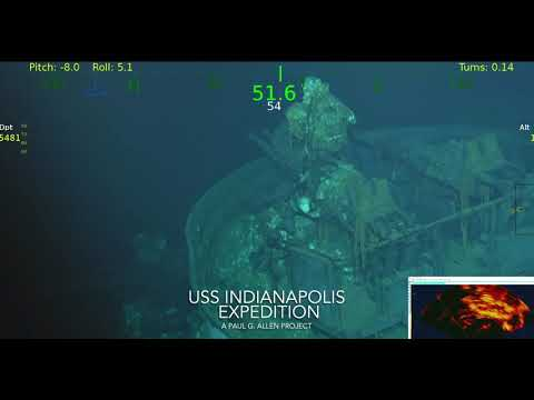 The USS Indianapolis Expedition - Petrel Feed Ship to Gun (Courtesy of Paul G. Allen)