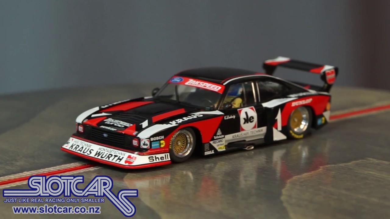 Sideways Slot Car Ford Capri Zakspeed Wurth Drm 1980 1 Group 5