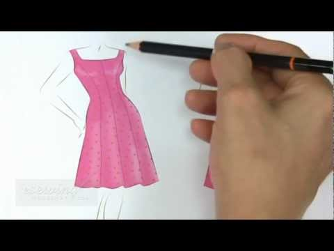 Panel Dress Sewing with Flared Skirt - Introduction (FREE SAMPLE ...