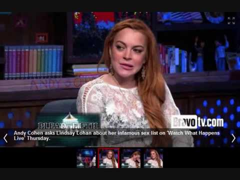 Lindsay Lohan : Admits To Famous Lovers List: SHOCKING! And SAD!