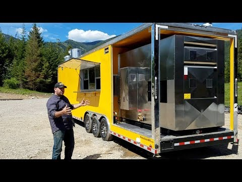 40' Custom Gooseneck BBQ Trailer  - Video Tour