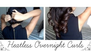 How to: Heatless Overnight Curls Thumbnail