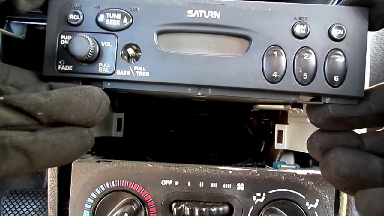 2000 02 Saturn S series Radio Removal  YouTube