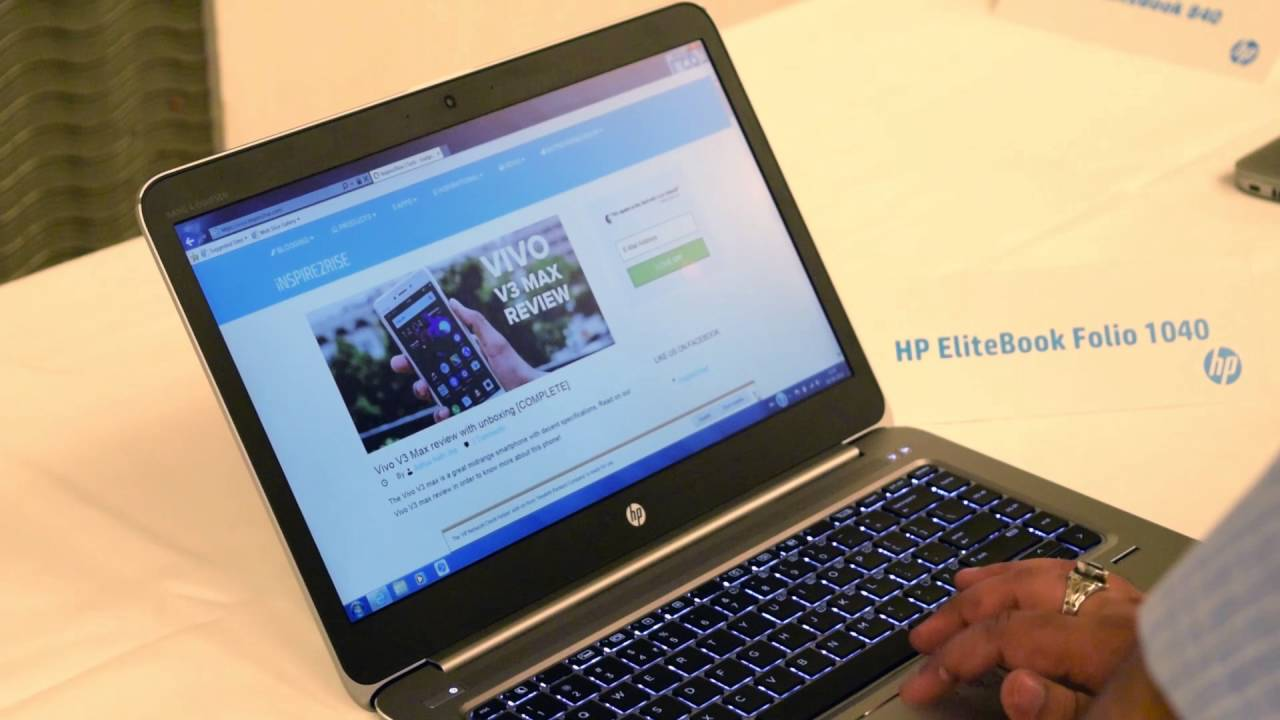 HP EliteBook Folio 1040 G3 initial impressions