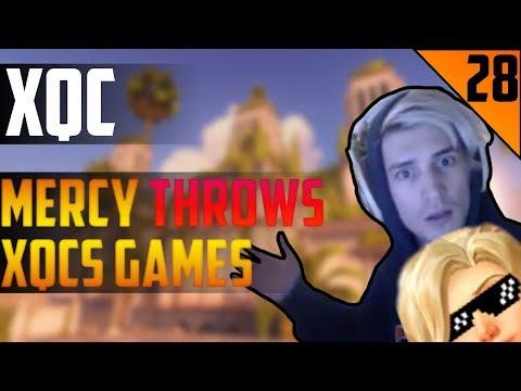 MERCY THROWS XQCS GAME - xQc STREAM HIGHLIGHTS #28