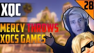 MERCY THROWS XQCS GAME - xQc STREAM HIGHLIGHTS #28