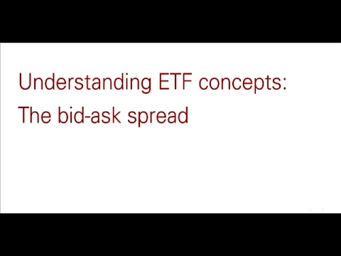 Understanding ETFs: The bid-ask spread