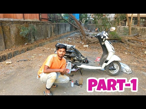 Servicing of scooter | Honda Activa 3g  (Part-1)
