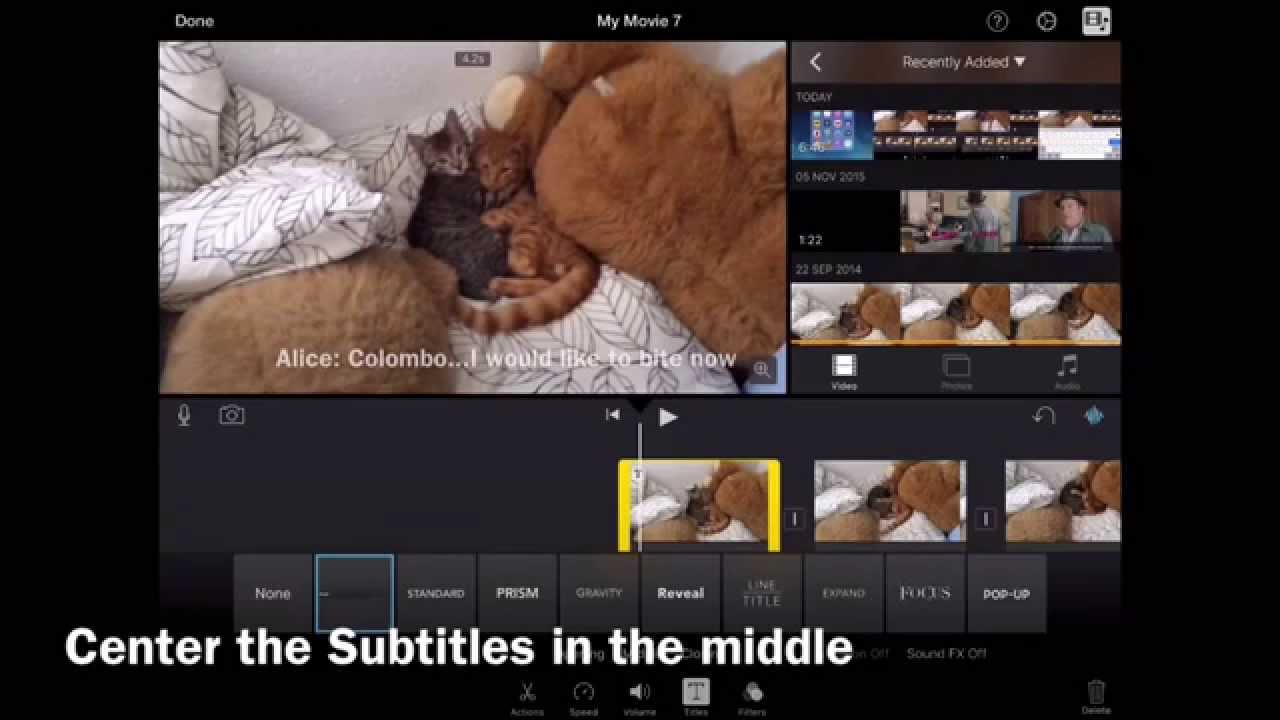 How to put a picture over a video in imovie ios