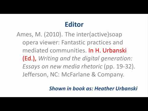 apa 6th ed referencing a book chapter youtube