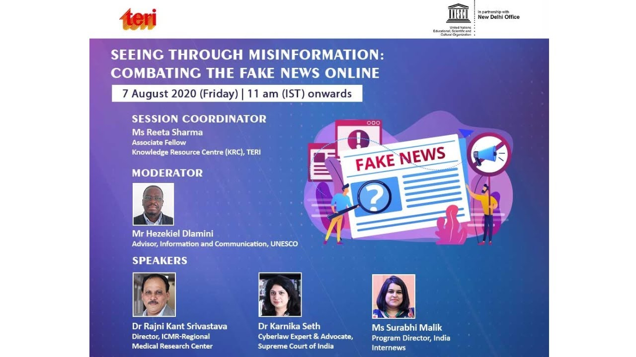 Webinar on Seeing Through Misinformation: Combating the Fake News Online