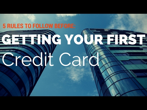 Getting Your First Credit Card