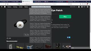 New White Button Eye Patch   Roblox Labor Day Sale 2019 #16